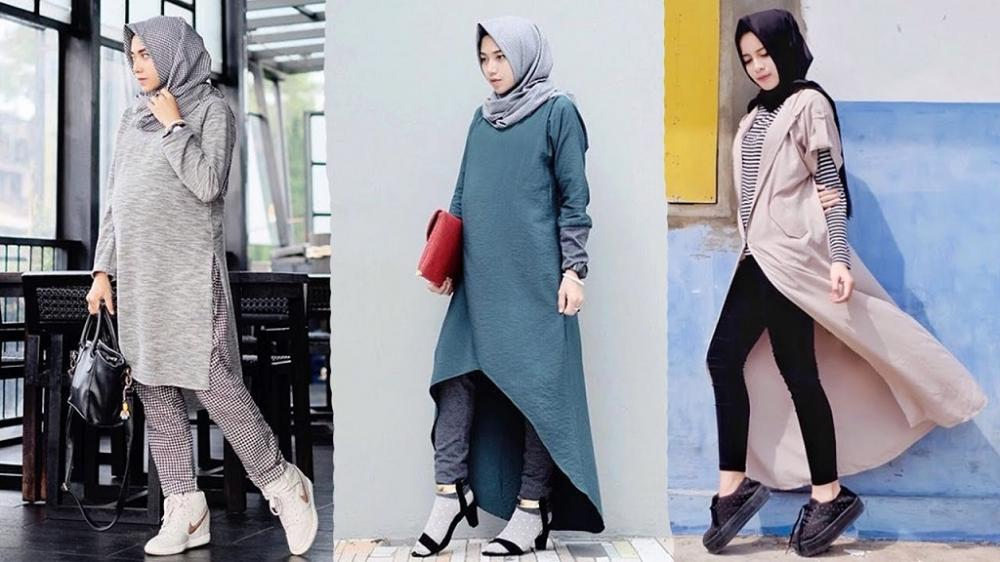 Yang panjang-panjang juga sangat cocok untuk Anda yang memakai hijab kok